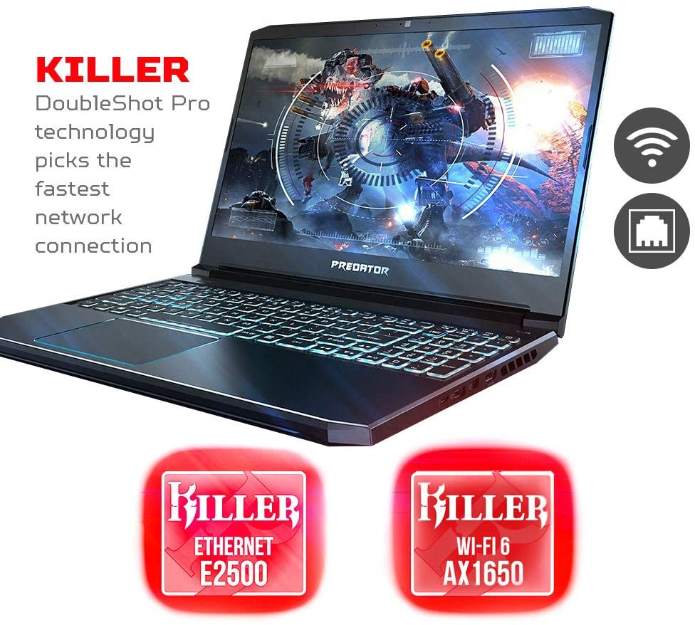 Acer Predator Helios 300 Gaming Laptop, Core i7-9750H | 16GB RAM | FHD 144Hz | 512GB SSD | GeForce GTX 1660 Ti - Windows 10
