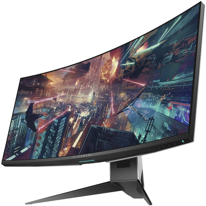 "Dell Alienware 1900R 34.1"", Curved Gaming Monitor LED-Lit, WQHD 3440 x 1440p Resolution, 4ms 120Hz Overclocked Refresh Rate, NVIDIA G-Sync"