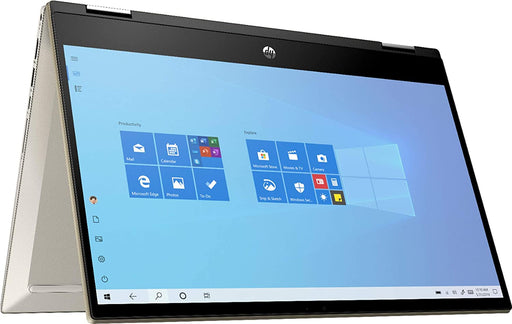 "HP Pavilion x360 Convertible Touchscreen Laptop - 14"" Core™️ i5-1135G7, 8GB RAM, 256GB SSD, FP Reader, Backlit KBoard, Windows 10 - Warm Gold"