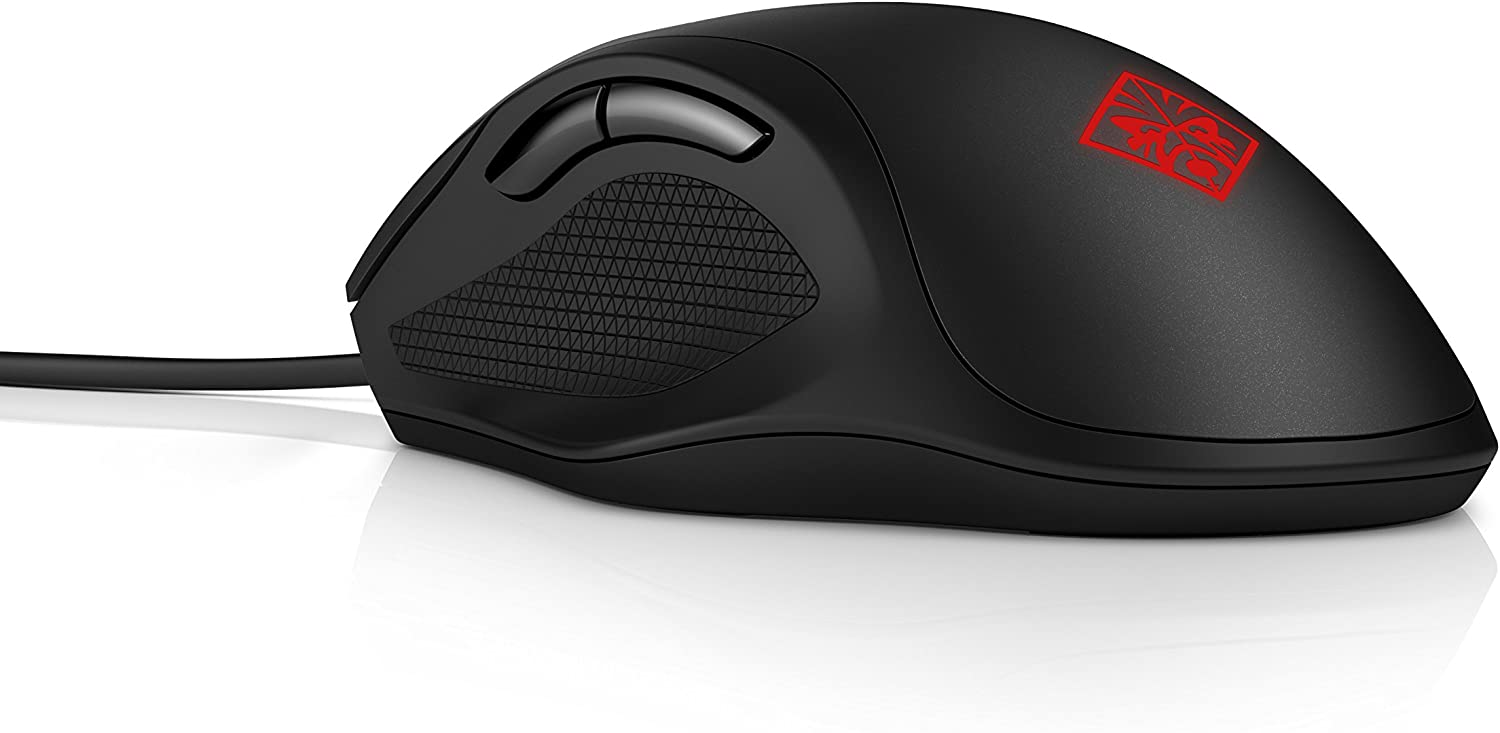 HP OMEN Gaming Mouse 400 - Ambidextrous, Optical, Wired USB, 5000 DPI, Black - 3ML38AA
