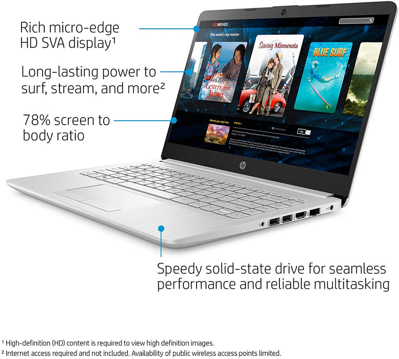 "HP Personal Laptop - 14"" HD Display, AMD Ryzen™ 3 3250U, 4GB RAM, 1TB HDD, Radeon Vega 3 Graphics, Webcam - Windows 10"