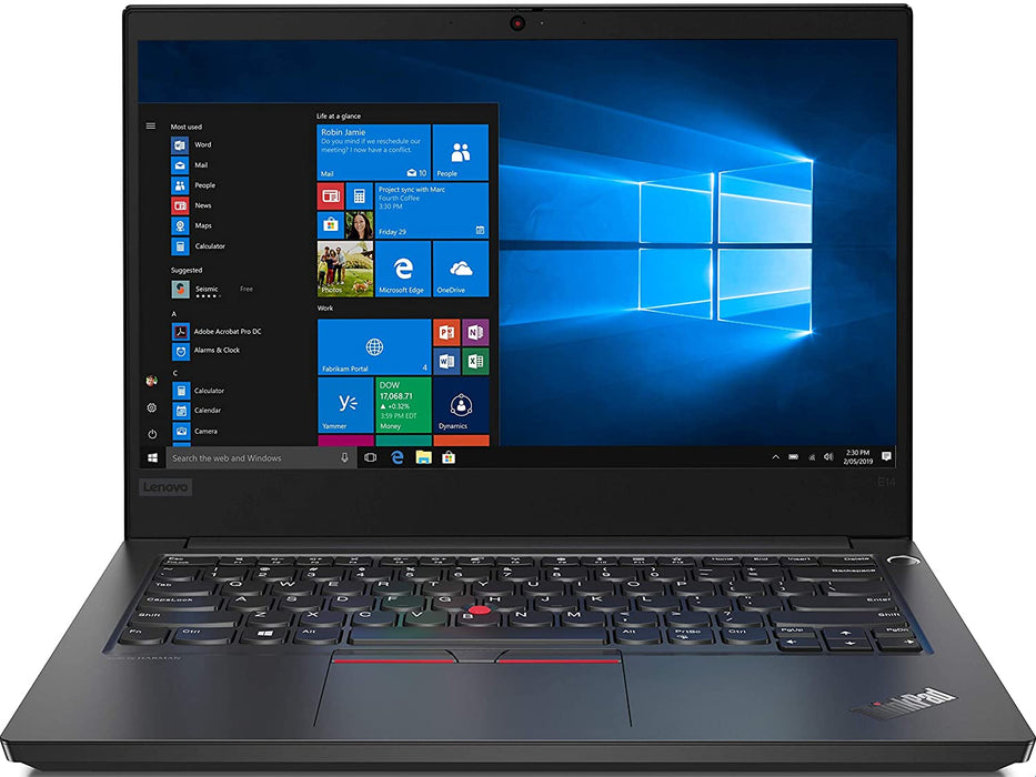 "Lenovo ThinkPad E14 Business Laptop - 14"" FHD Core i5 10th Gen - Thin & Light Laptop, 8GB RAM, 256GB SSD, Windows 10 Pro - Black"