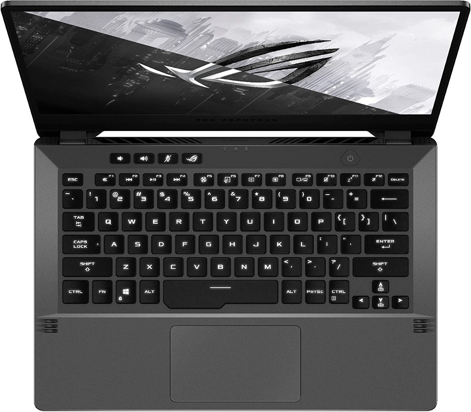 ASUS ROG Zephyrus G14 - AMD Ryzen 7 4800HS, 8GB RAM, 512GB SSD, VR Ready, Nvidia GeForce GTX 1650, Windows 10 - Eclipse Gray