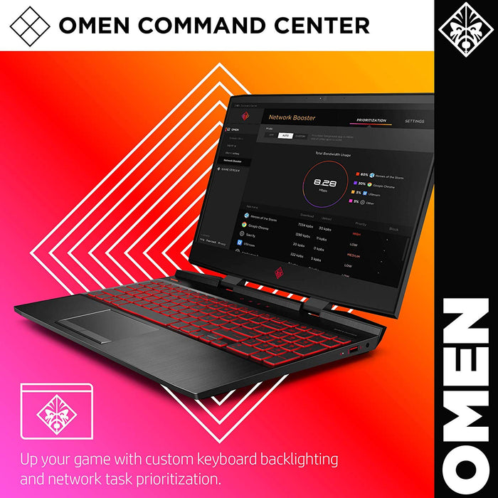 Omen by HP 2019 15-Inch Gaming Laptop, Intel i7-9750H Processor, 8GB GeForce RTX 2070, 32GB RAM, 512GB SSD, VR Ready, Win 10 Home