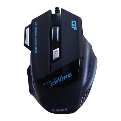 Enet G509 High Performance Wired Gaming Mouse - 24,000 DPI, Adjustable Weights, Programmable Buttons, On-Board Memory - Black