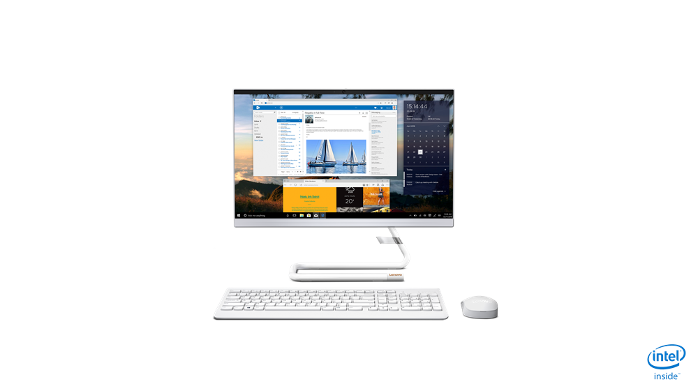 "Lenovo IdeaCentre A340-22ICK i5-9400T 21.5"" FHD AMD Radeon 530 2GB GDDR5 No OS Calliope Wireless Keyboard White Color"