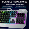 AULA F3010 Wired Gaming Keyboard  - 26 Keys Anti-ghosting Ergonomic Metal Panel Mix, RGB Backlit LED Gamer Keyboard