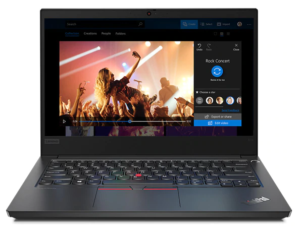 "Lenovo ThinkPad E14 Business Laptop Intel Core I7-10510U 8GB 1TB HDD 2GB Nvidia Graphics 14"" Full HD Display Bluetooth Webcam DOS - Black"