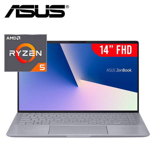 "ASUS Zenbook 14"" Laptop - AMD Ryzen 5 4500U, 8GB RAM, 256GB SSD, NVIDIA GeForce MX350, Windows 10 - Light Gray"