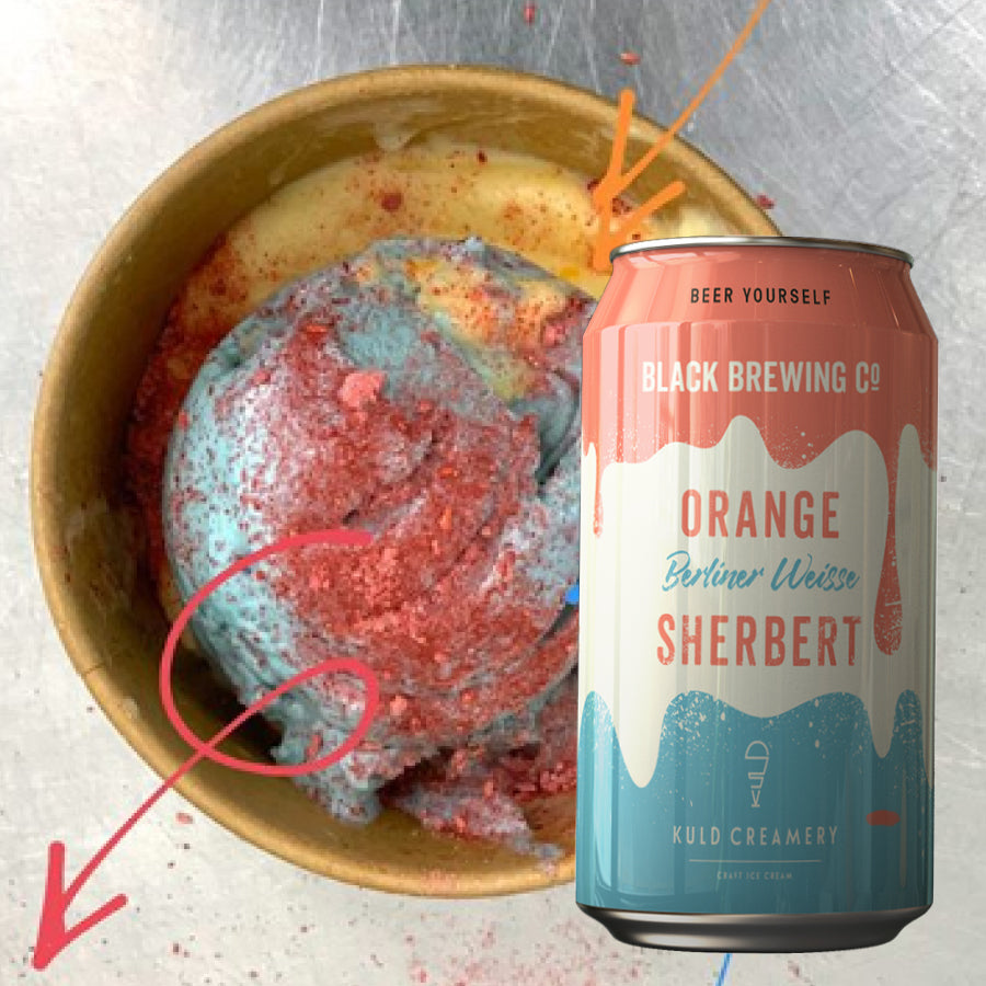 Orange Sherbert Icecream and Beer pack