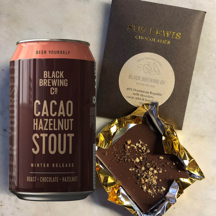 Cacao & Hazelnut Stout + Choc Bar Gift Box