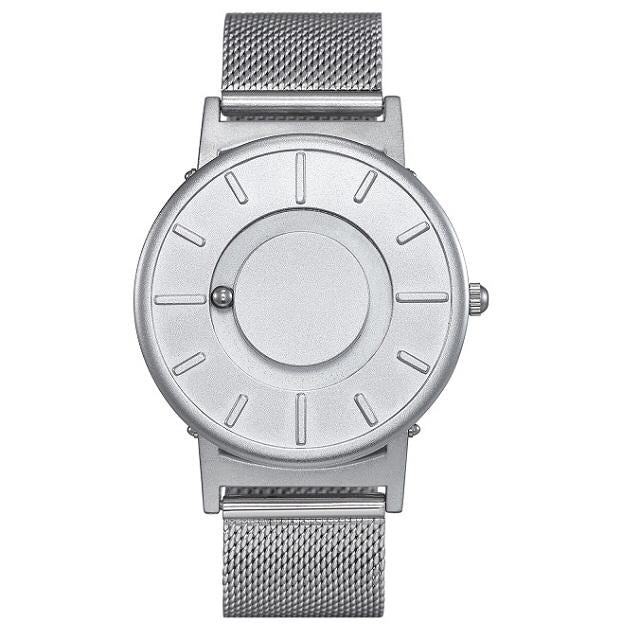 Vixale Unisex Watch, Titanium With Mesh Strap (Silver)