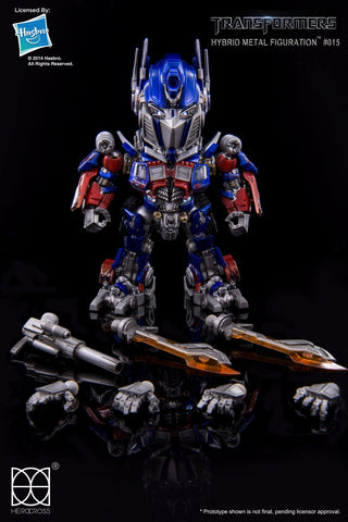 HeroCross Transformers Hybrid Metal Figuration #015 - Optimus Prime - Simply Toys