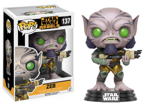 Funko Pop! Television - Star Wars Rebels #137 - Zeb - Simply Toys