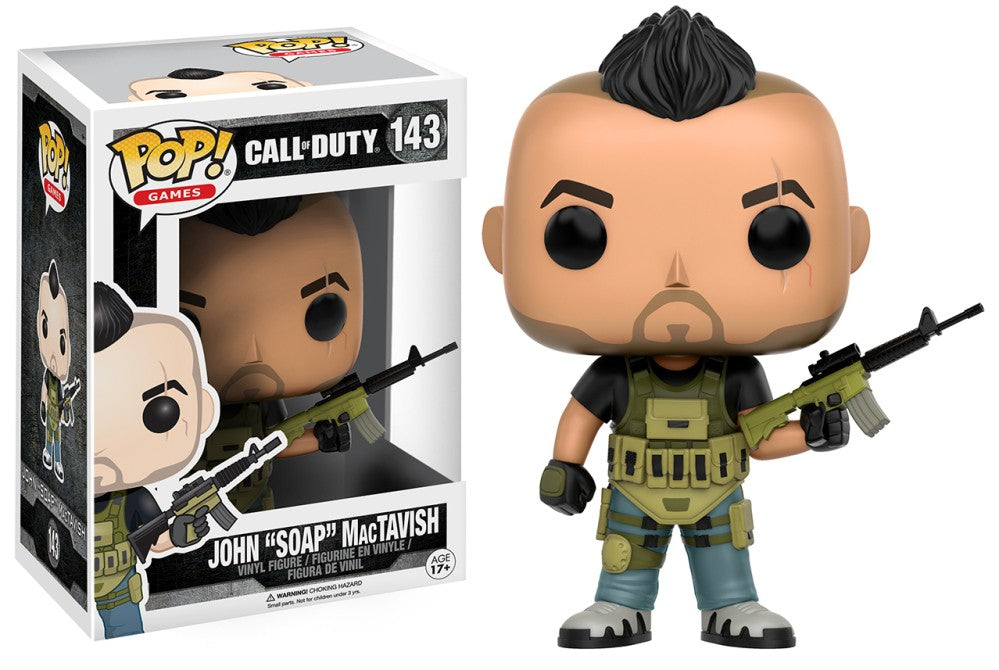 "Funko Pop! Games - Call of Duty #143 - John ""Soap"" MacTavish - Simply Toys"
