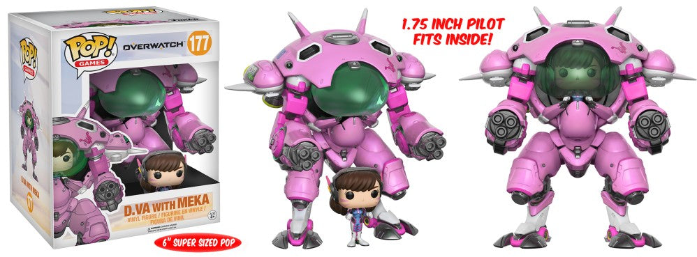 Funko Pop! Games - Overwatch #177 - D.Va with Meka (6 inch) - Simply Toys