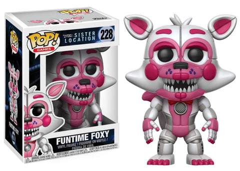 Funko Pop! Games - Five Nights at Freddy's Sister Location #228 - Funtime Foxy - Simply Toys