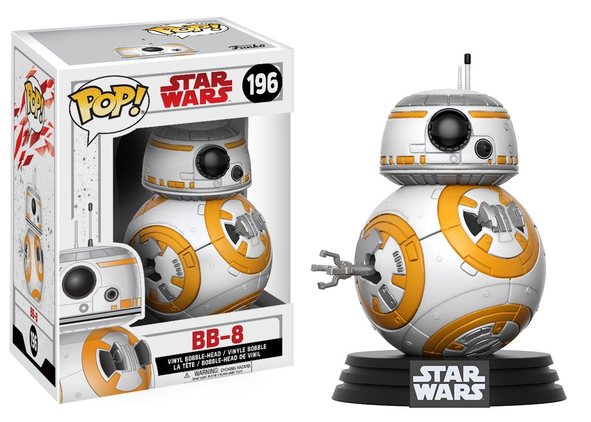 Funko Pop! Movies - Star Wars: Episode VIII - The Last Jedi #196 - BB-8 - Simply Toys