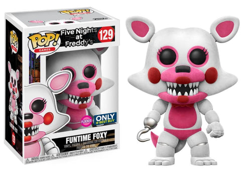 Funko Pop! Games - Five Nights at Freddy's #129 - Funtime Foxy (Flocked) (Exclusive) - Simply Toys