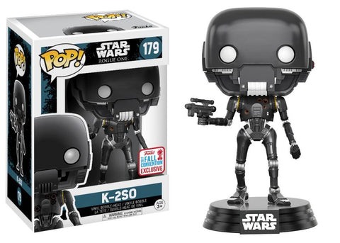 Funko Pop! Movies - Rogue One: A Star Wars Story #179 - K-2SO (with Blaster) (Exclusive) - Simply Toys