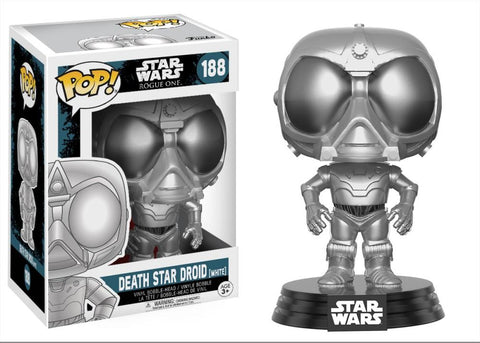 Funko Pop! Movies - Rogue One: A Star Wars Story #188 - Death Star Droid (White) (Exclusive) - Simply Toys