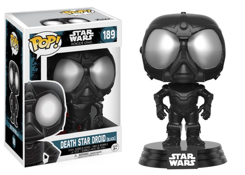 Funko Pop! Movies - Rogue One: A Star Wars Story #189 - Death Star Droid (Black) - Simply Toys