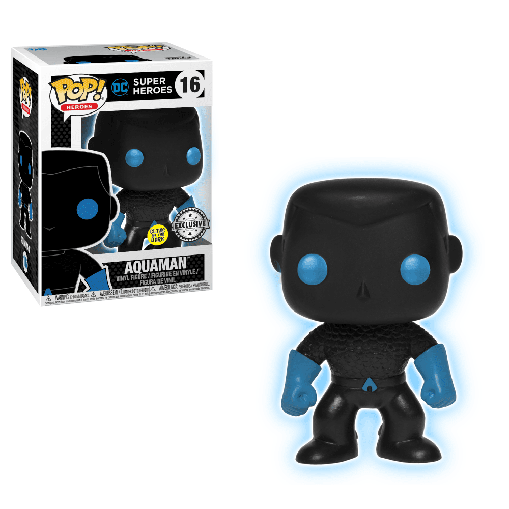 Funko Pop! Heroes - DC Super Heroes #16 - Aquaman Silhouette (Glow in the Dark) (Exclusive) - Simply Toys