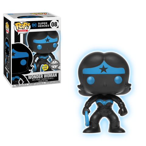 Funko Pop! Heroes - DC Super Heroes #08 - Wonder Woman Silhouette (Glow in the Dark) (Exclusive) - Simply Toys