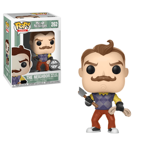 Funko Pop! Games - Hello Neighbor #262 - The Neighbor (with Axe and Rope) (Exclusive) - Simply Toys