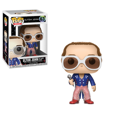 Funko Pop! Rocks - Elton John #63 - Elton John (Red, White and Blue) - Simply Toys