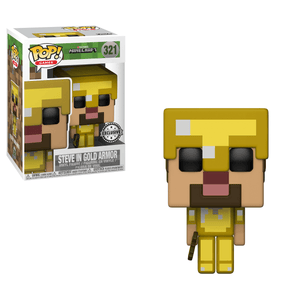 Funko Pop! Games - Minecraft #321 - Steve (Gold) (Exclusive) - Simply Toys