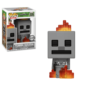 Funko Pop! Games - Minecraft #326 - Skeleton (with Fire) (Exclusive) - Simply Toys