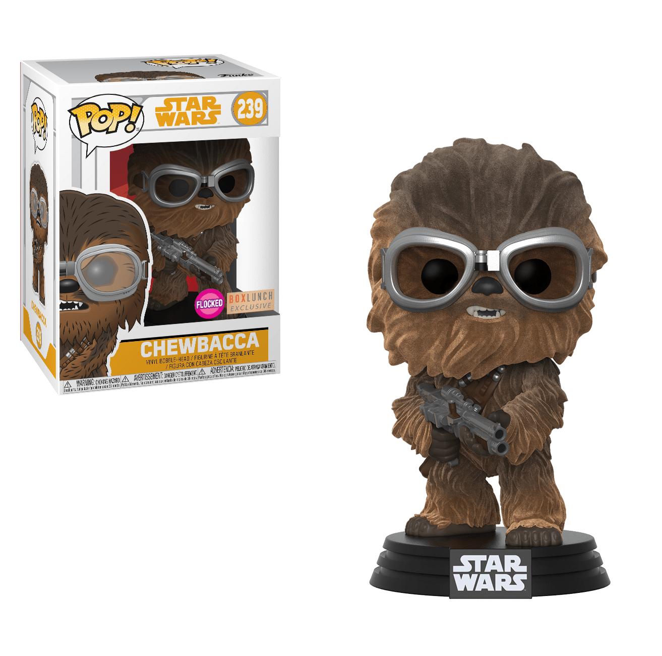 Funko Pop! Movies - Solo: A Star Wars Story #239 - Chewbacca (with Goggles) (Flocked) (Exclusive) - Simply Toys