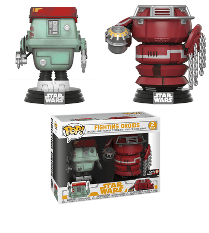 Funko Pop! Movies - Solo: A Star Wars Story - Fighting Droids (2 Pack) (Exclusive) - Simply Toys