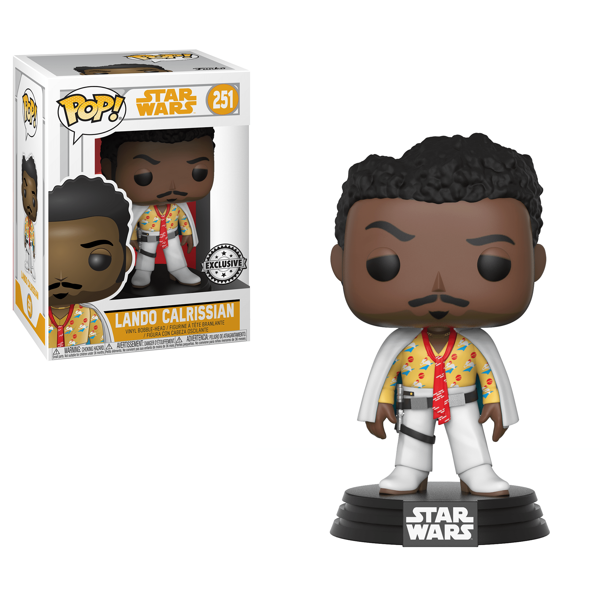 Funko Pop! Movies - Solo: A Star Wars Story #251 - Lando Calrissian (Party Shirt) (Exclusive) - Simply Toys