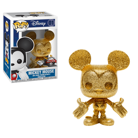 Funko Pop! Animation - Disney #01 - Mickey Mouse (Gold Glitter) (Exclusive) - Simply Toys