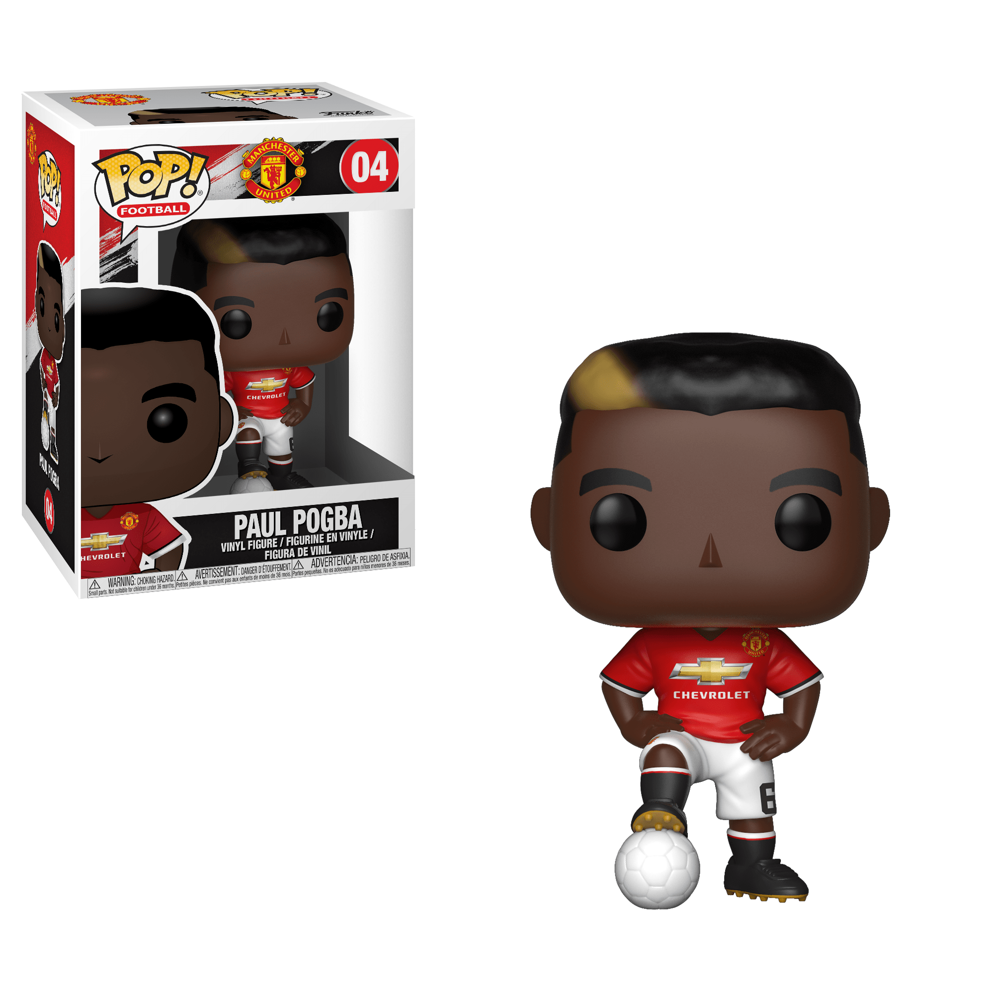 Funko Pop! Sports - Football: Manchester United #04 - Paul Pogba *VAULTED* - Simply Toys
