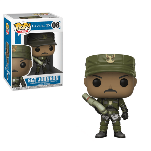 Funko Pop! Games - Halo #08 - Sgt. Johnson - Simply Toys