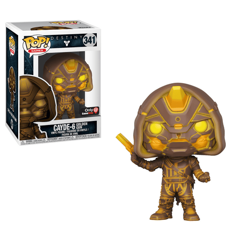 Funko Pop! Games - Destiny #341 - Cayde-6 (with Golden Gun) (Gold) (Exclusive) - Simply Toys