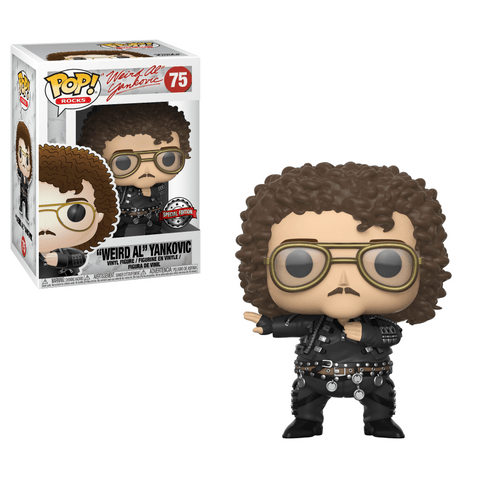 "Funko Pop! Rocks - Weird Al Yankovic #75 - ""Weird Al"" Yankovic (Fat) (Exclusive) - Simply Toys"