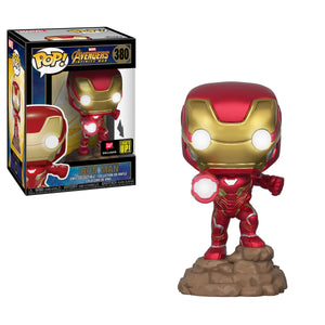 Funko Pop! MARVEL - Avengers: Infinity War #380 - Iron Man (Lights Up!) (Exclusive) - Simply Toys
