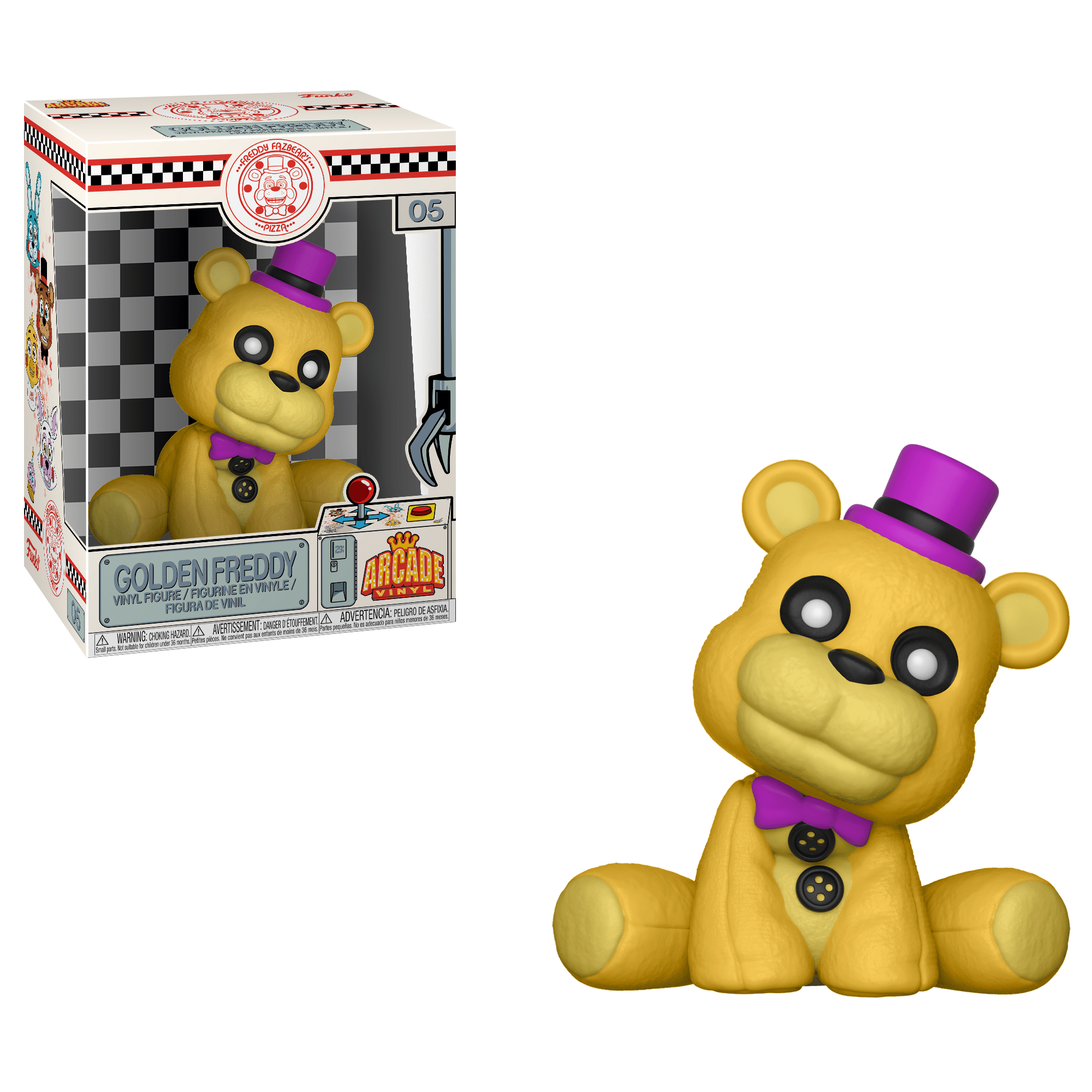 Funko Pop! Games - Five Nights at Freddy's Arcade Vinyl #5 - Golden Freddy - Simply Toys