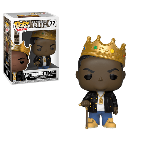 Funko Pop! Rocks - The Notorious B.I.G. #77 - Notorious B.I.G. (with Crown) - Simply Toys