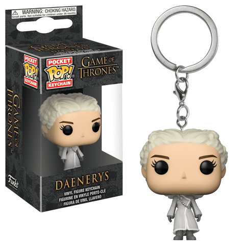Funko Pop! Keychain - Game of Thrones - Daenerys Targaryen (White Coat) - Simply Toys