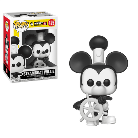 Funko Pop! Animation - Mickey The True Original 90 Years #425 - Steamboat Willie - Simply Toys