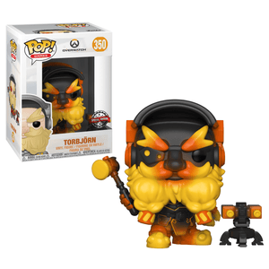 Funko Pop! Games - Overwatch #350 - Torbjorn (Molten Core) (Exclusive) - Simply Toys