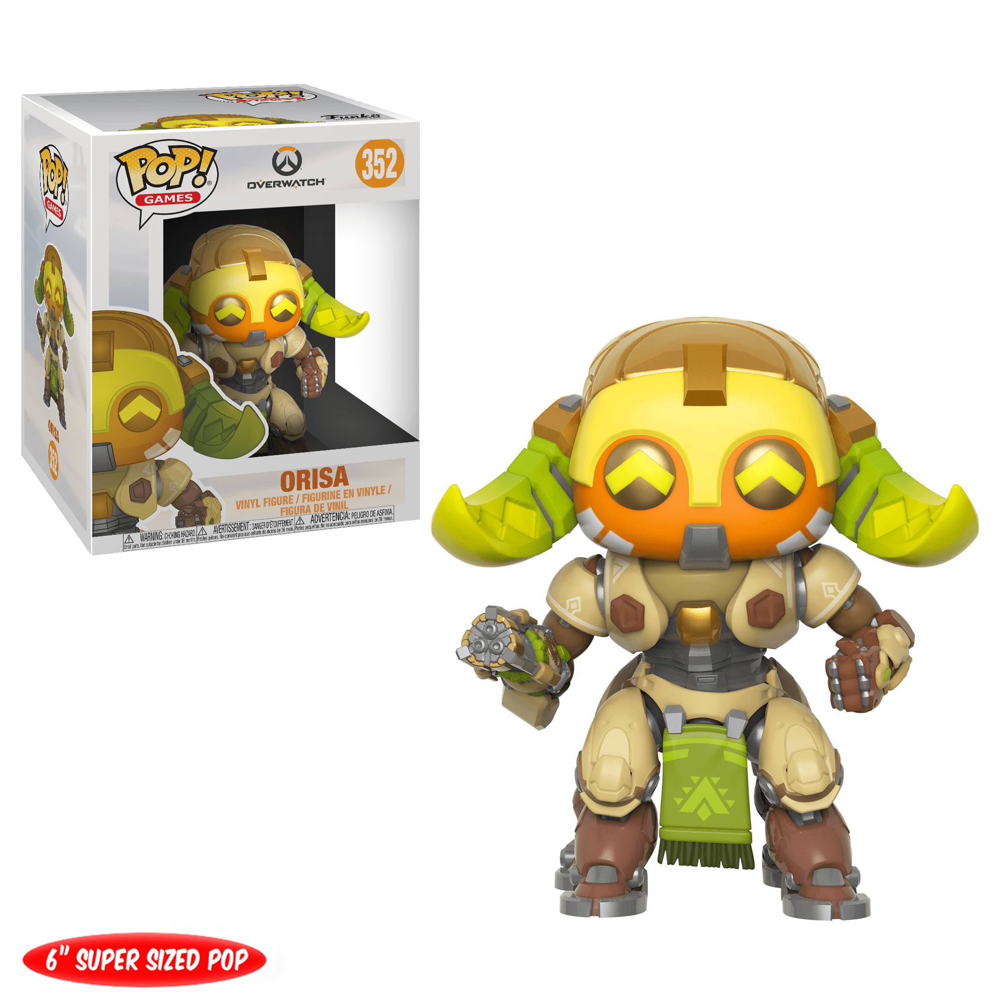 Funko Pop! Games - Overwatch #352 - Orisa (6 inch) - Simply Toys