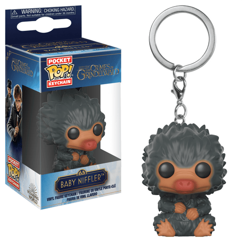 Funko Pop! Keychain - Fantastic Beasts: The Crimes of Grindelwald - Baby Niffler (Grey) - Simply Toys