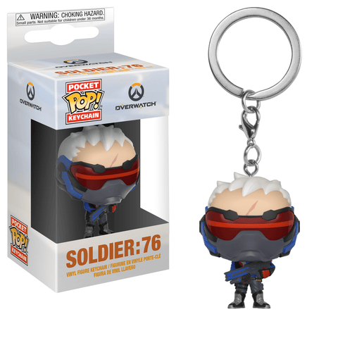 Funko Pop! Keychain - Overwatch - Soldier: 76 - Simply Toys