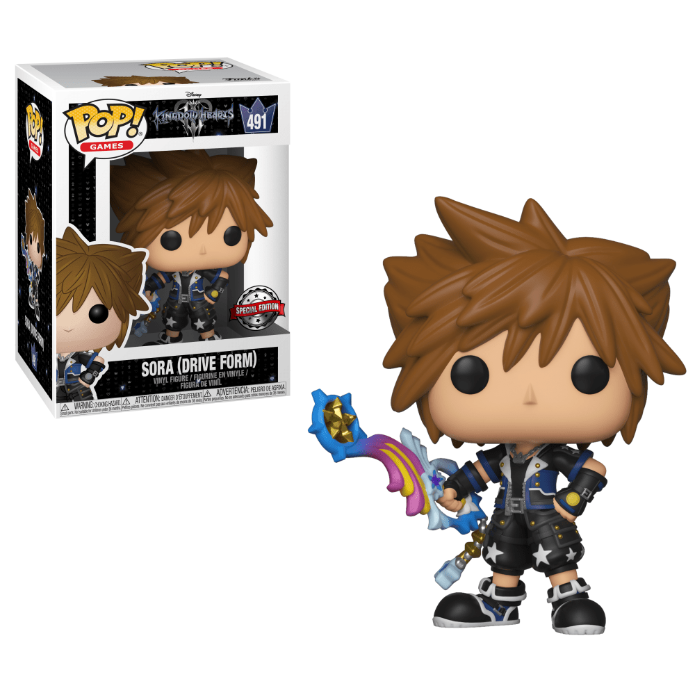 Funko Pop! Games - Kingdom Hearts 3 #491 - Sora (Drive Form) (Exclusive) - Simply Toys